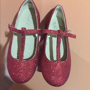 8f945c500 Other - Girls Red glitter T strap flats